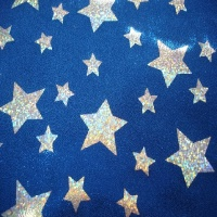 Foil White on Blue Large and Small Stars